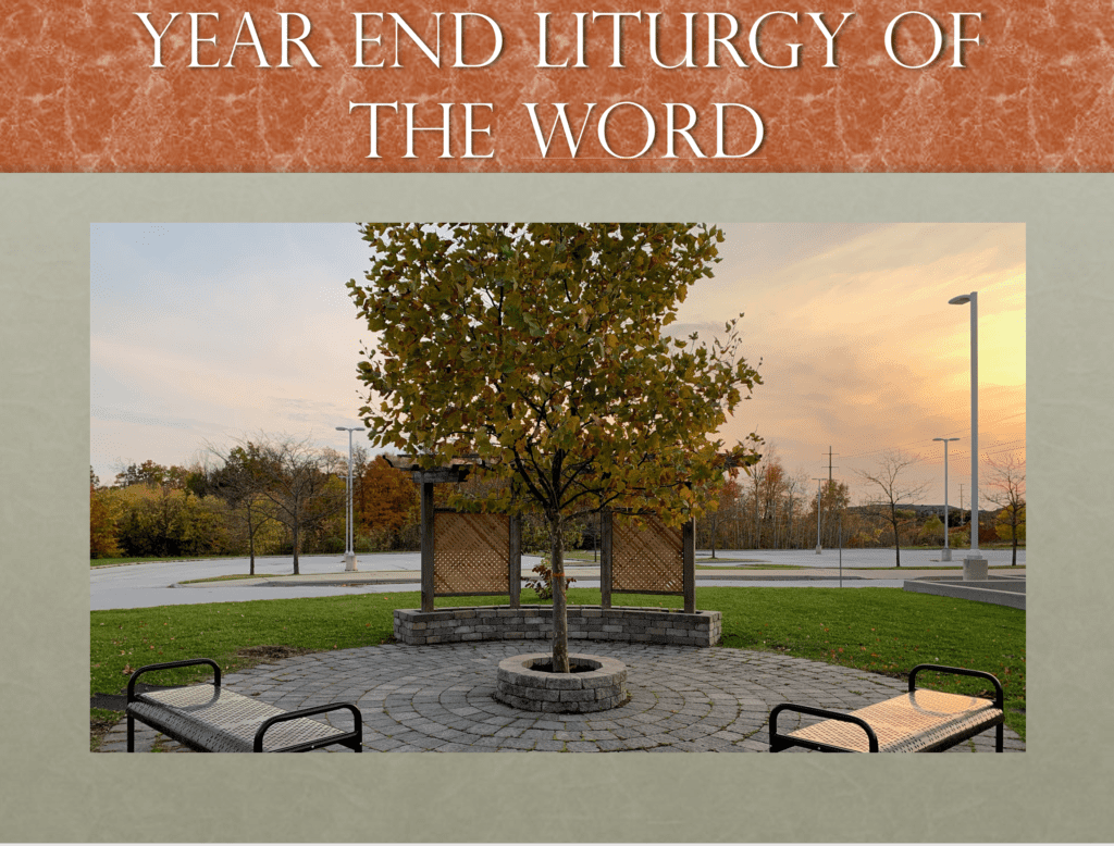 Year End Liturgy of the Word