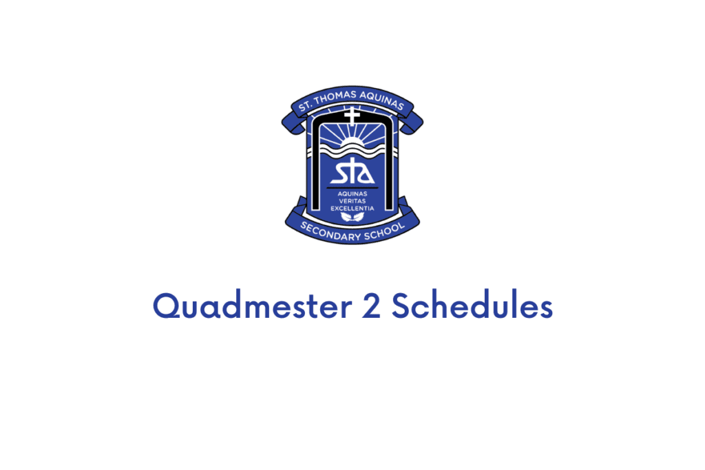 Quadmester Two Schedules