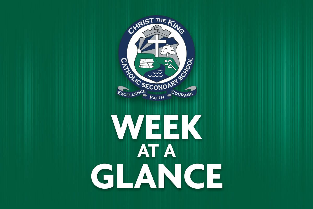 Week at a Glance – December 14-18