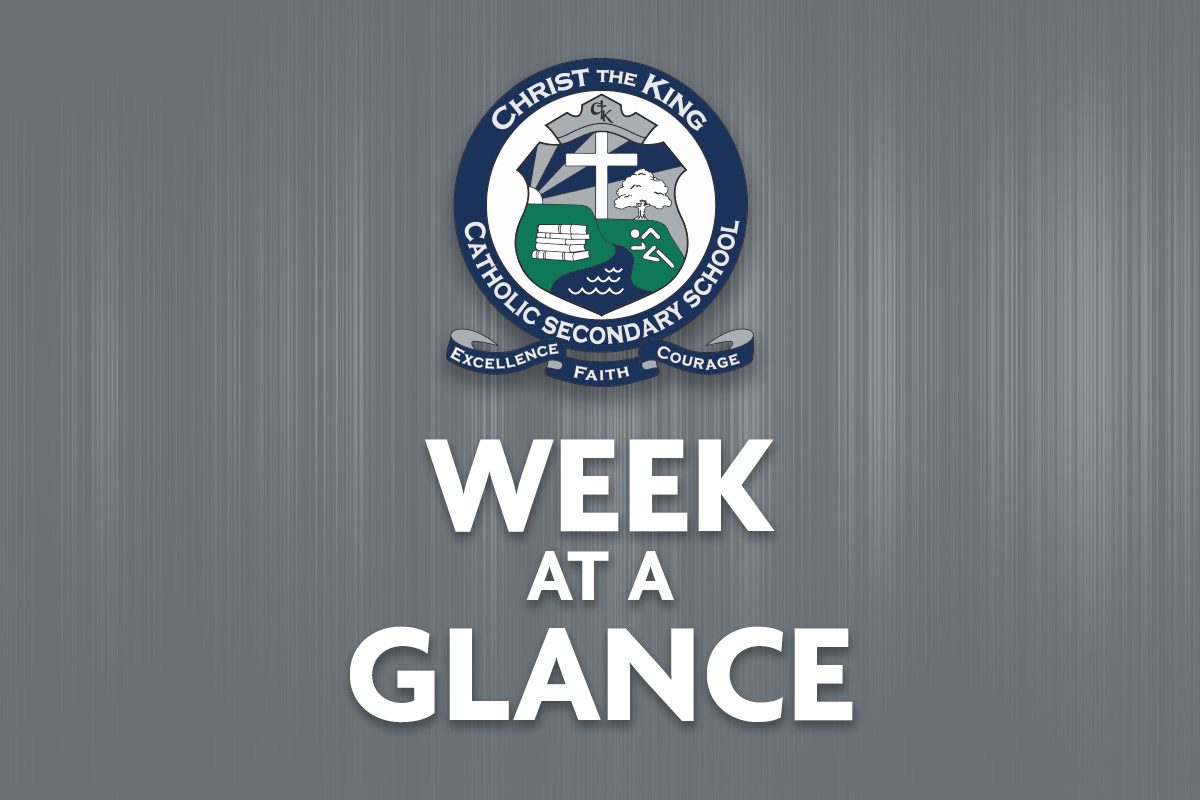 Week at a Glance – March 29 – April 2