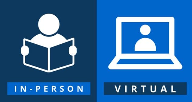 in-person or virtual