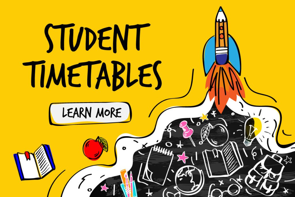 Student Timetables Available Friday, September 3rd