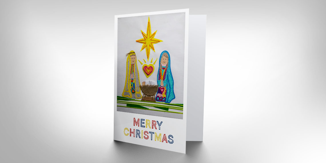 Keeping Christ in Christmas cards with student artwork