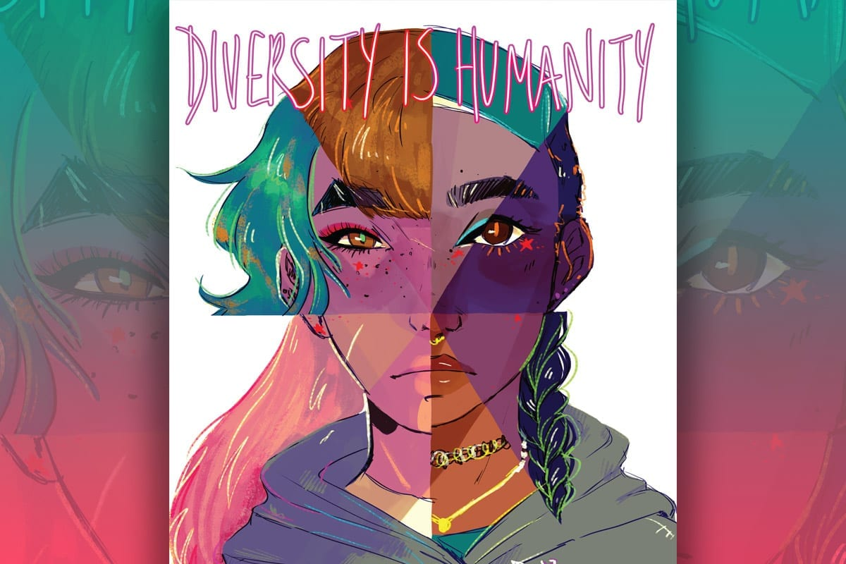 Diversity is Humanity student artwork