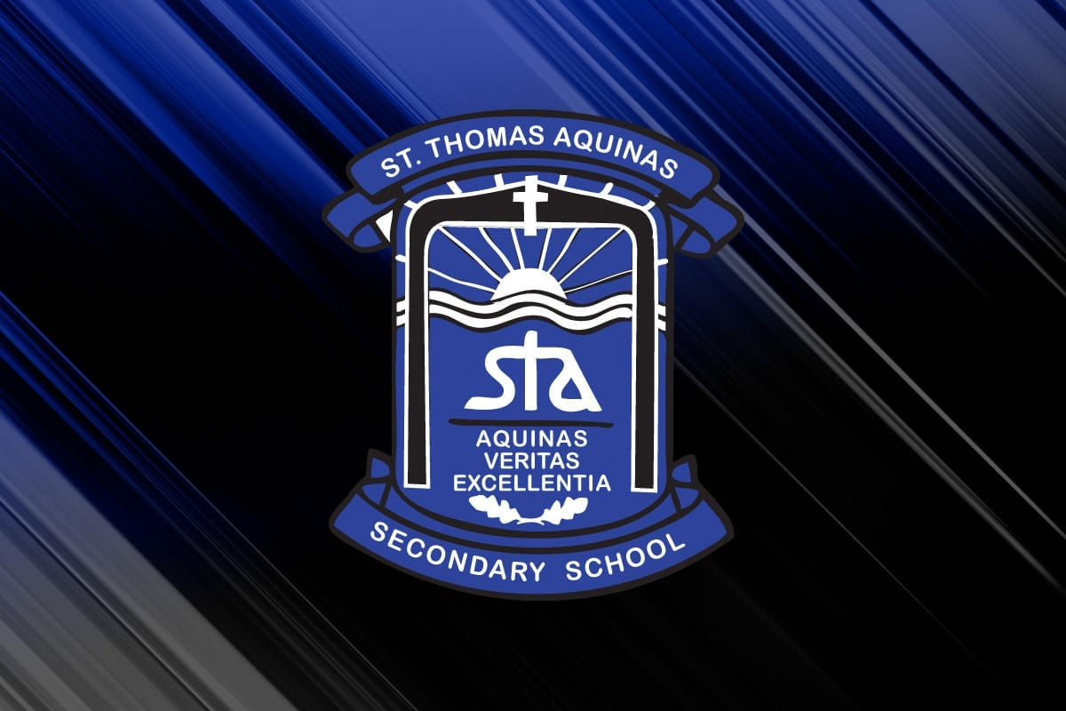 St. Thomas Aquinas logo on background