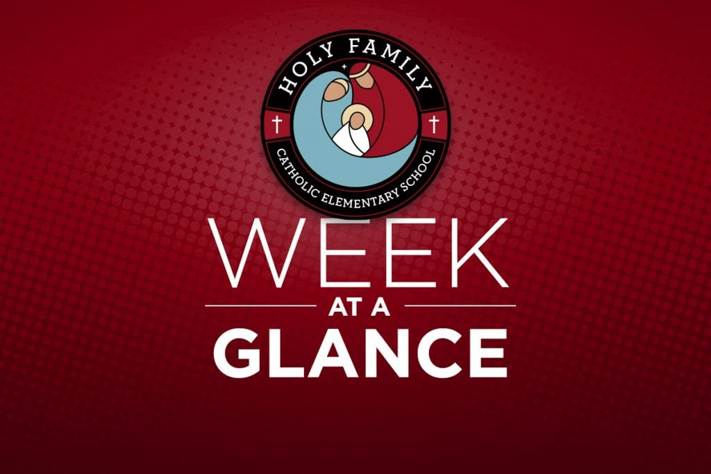 Week at a Glance – January 27th