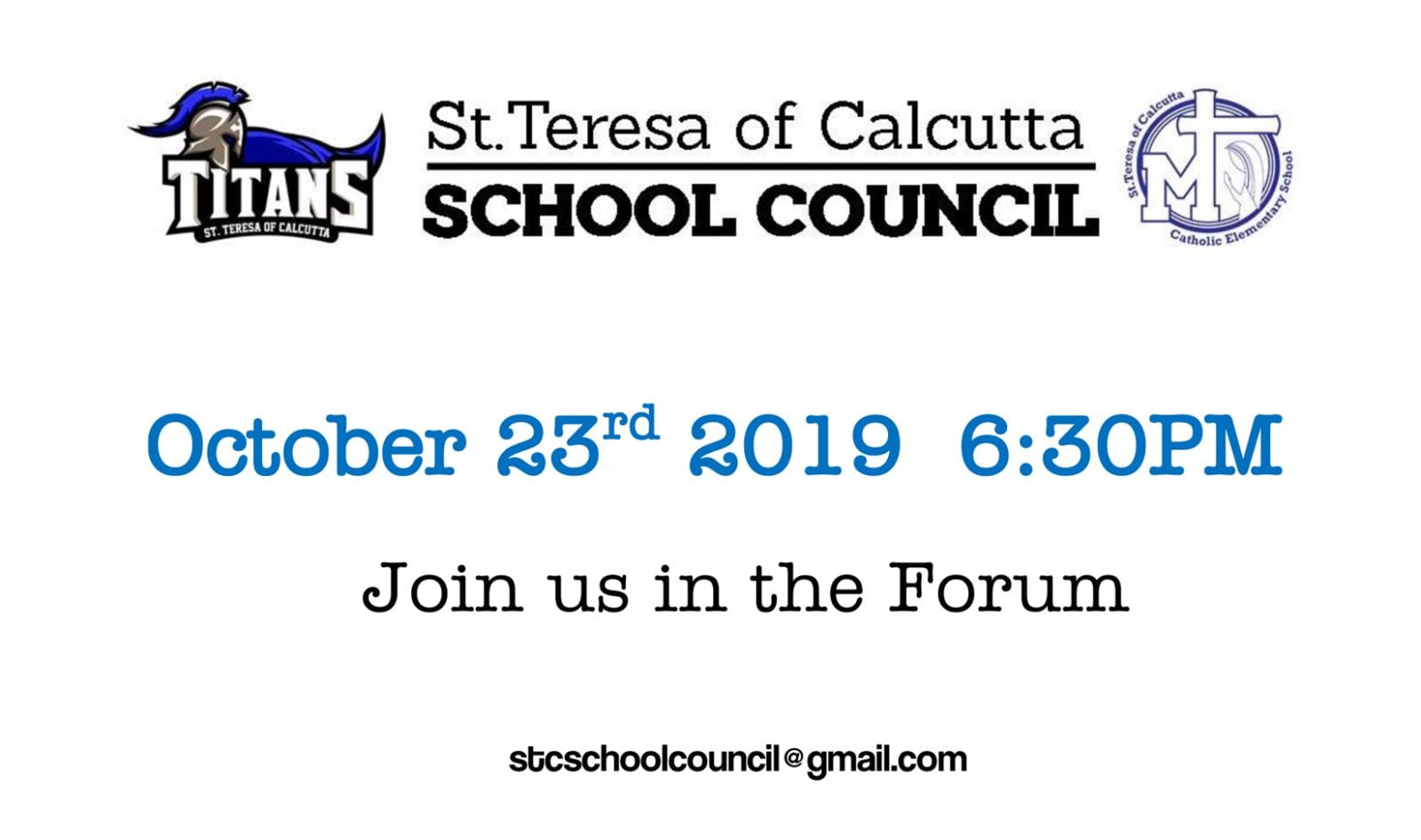 School Council Meeting: October 23rd