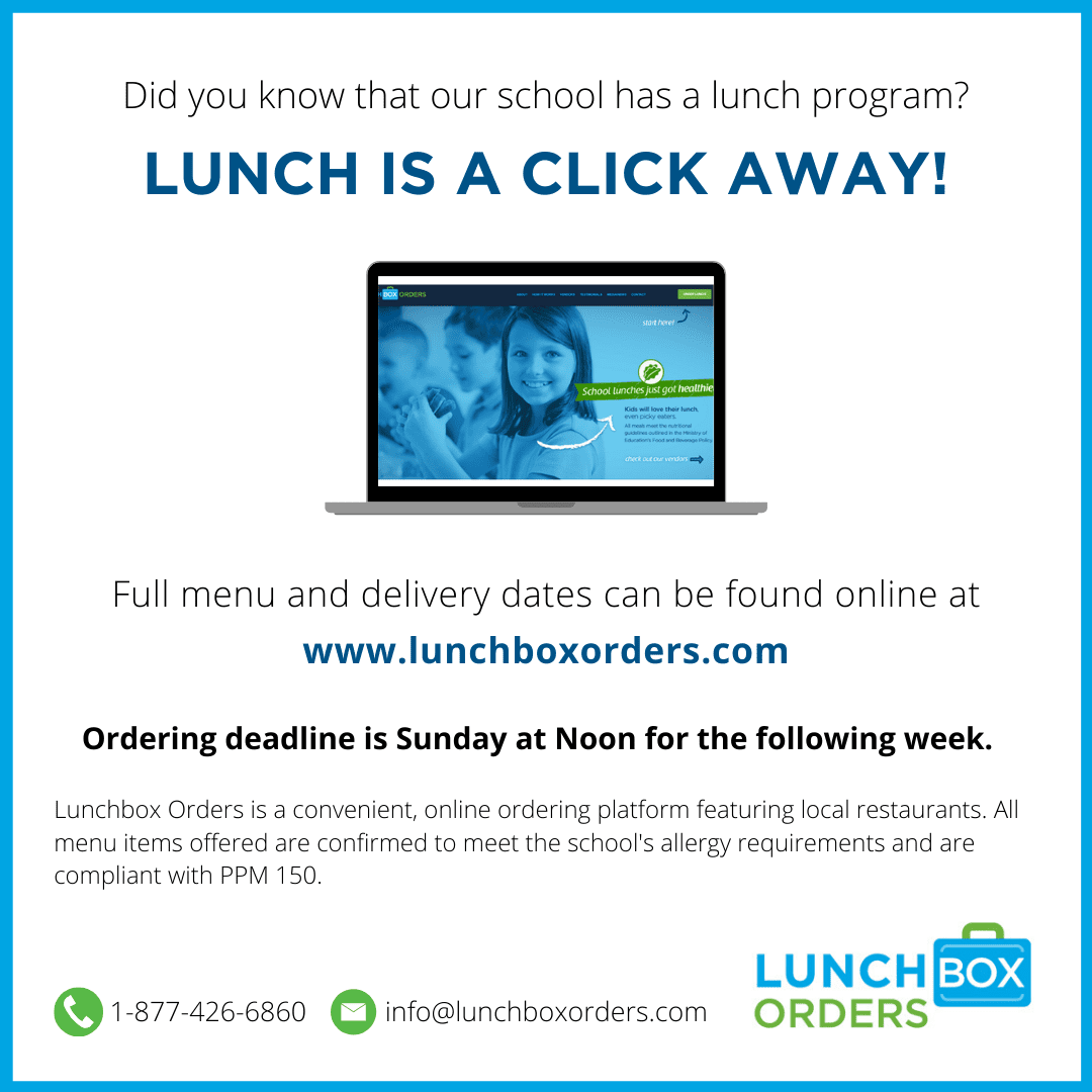 LUNCHBOX ORDERS are now available