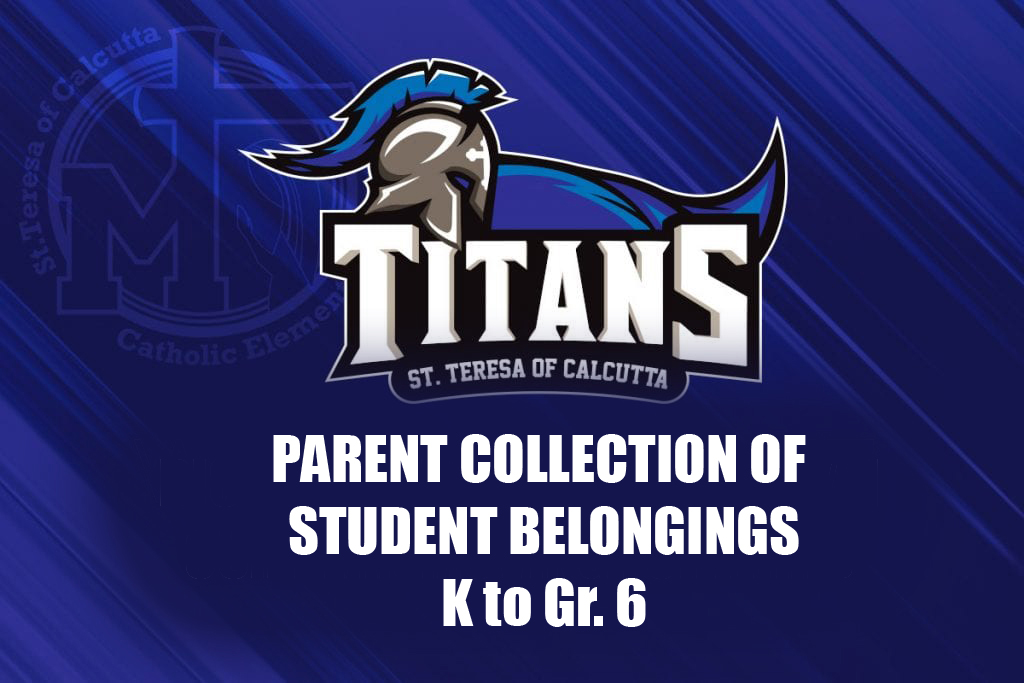 Process for Picking Up Student Belongings and Dropping off School Equipment (Grades K to 6)