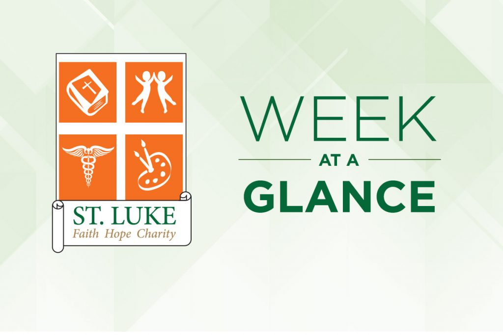 Week-at-a-Glance September 28