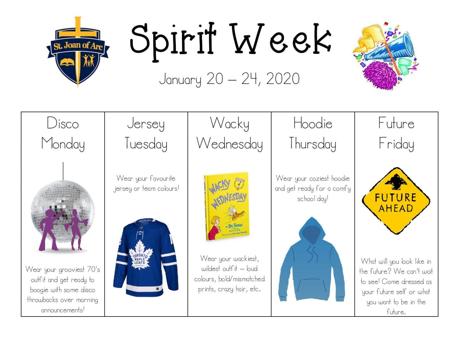 SPIRIT WEEK JAN 20th to 24th