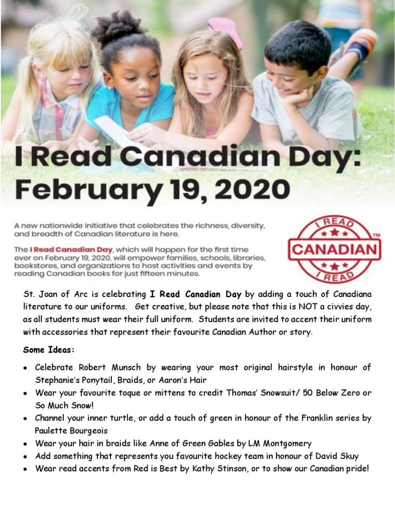 I Read Canadian Day — February 19th