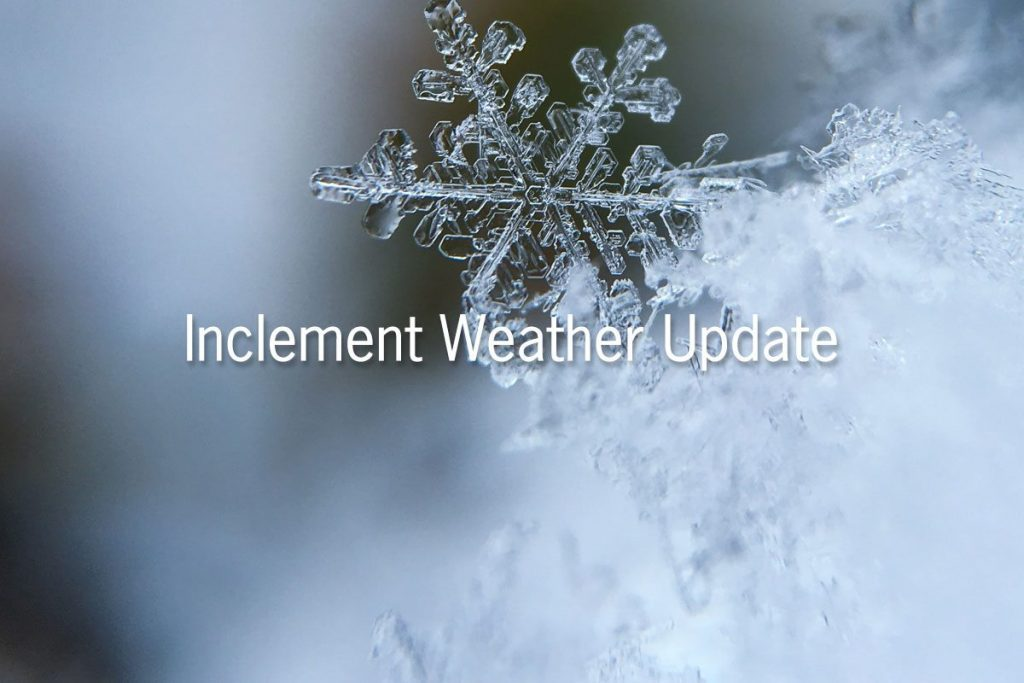 Inclement Weather Update – February 27, 2019