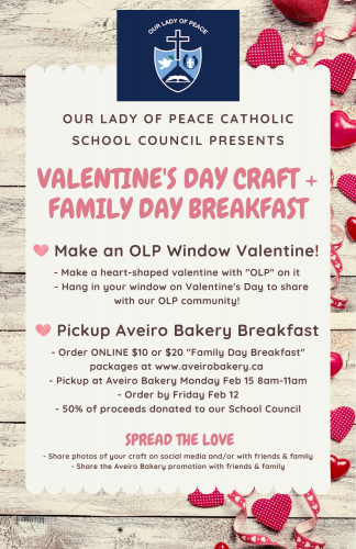OLP Catholic School Council Family Brunch from Aveiro Bakery - LAST DAY TO ORDER!