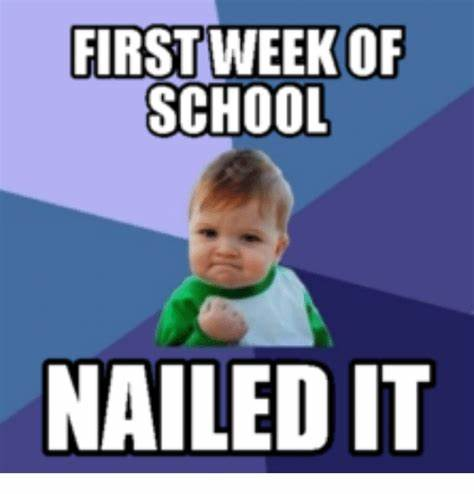 Nailed It! First Week of School