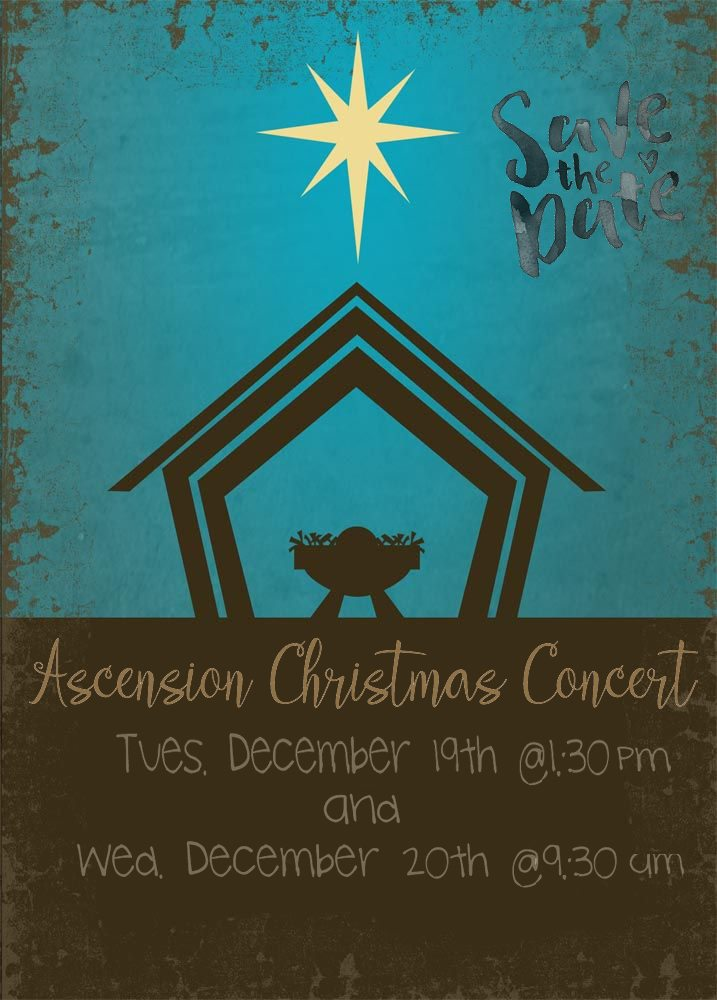 Christmas Concert – Save the Date!