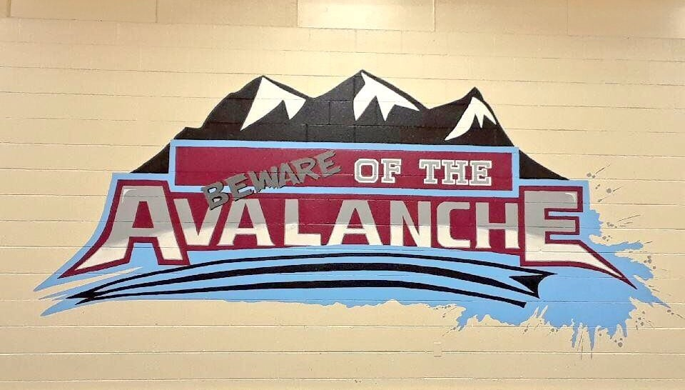 New Avalanche mural in the gym!